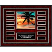Dream Beach Rosewood Horizontal Perpetual Plaque