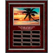 Dream Beach Rosewood Vertical Perpetual Plaque