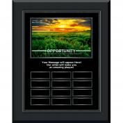 Opportunity New Day Gunmetal vertical Perpetual Plaque