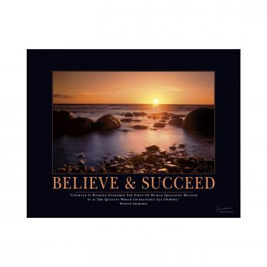 Believe and Succeed Mini Motivational Poster