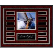 Spirit Sailing Rosewood Horizontal Perpetual Plaque