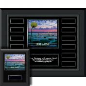 Rise Above Gunmetal Horizontal Perpetual Plaque
