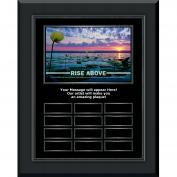 Rise Above Gunmetal Vertical Perpetual Plaque