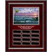 Rise Above Rosewood Vertical Perpetual Plaque