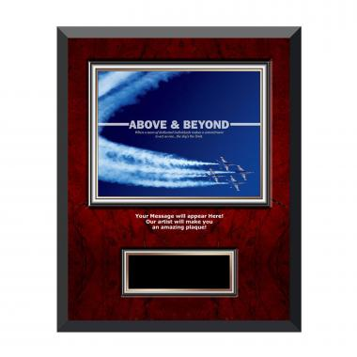Above & Beyond Rosewood Individual Award Plaque