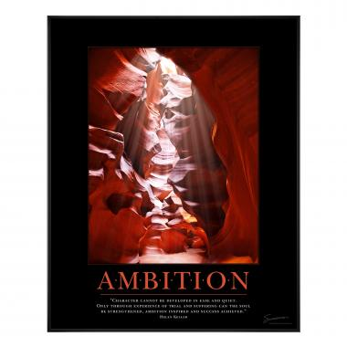 Ambition Canyon Motivational Poster