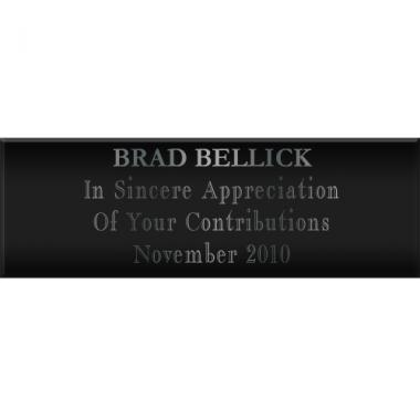 Blank Plate black and silver 1x3