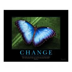 Classic Motivational Posters - Change Butterfly Motivational Poster