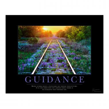 Guidance Railroad Tracks Motivational Poster