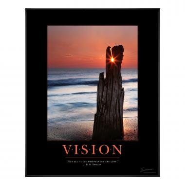 Vision Driftwood Motivational Poster