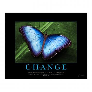 Change Butterfly Motivational Poster