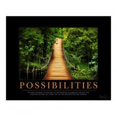 Classic Motivational Posters - Possibilities Wooden Bridge Motivational Poster