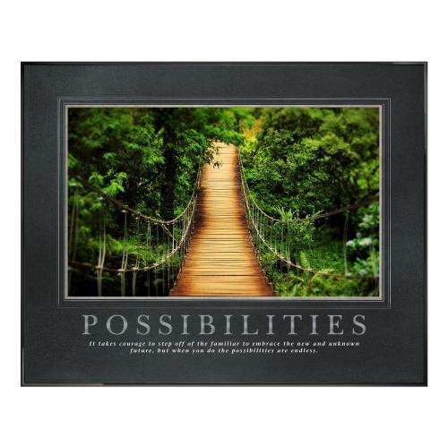 Possibilities Wooden Bridge Motivational Poster