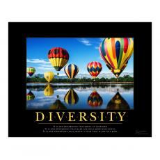 New Products - Diversity Balloons Motivational Poster