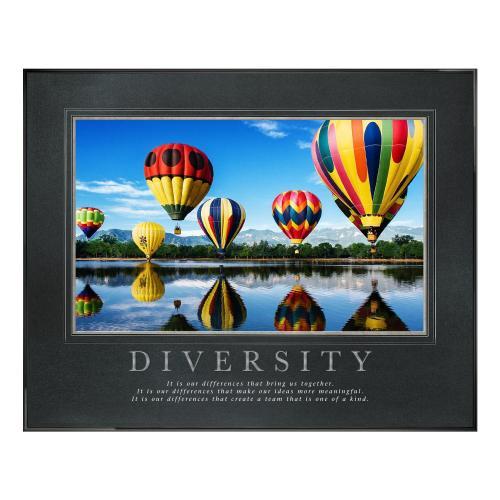 Diversity Balloons Motivational Poster