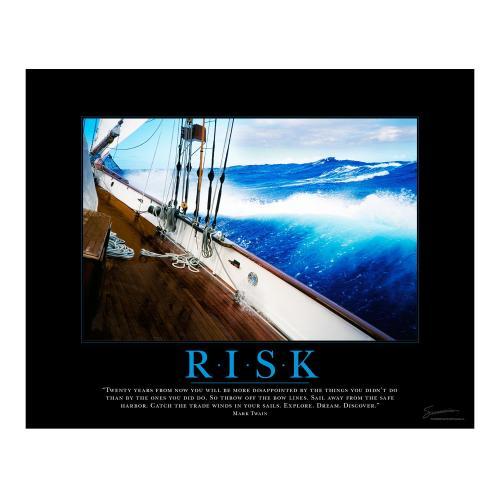 Risk Sailboat Motivational Poster