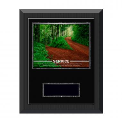 Service Path Gunmetal Individual Award Plaque