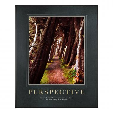 Perspective Wooded Path Motivational Poster