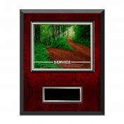 Service Path Rosewood Individual Award Plaque