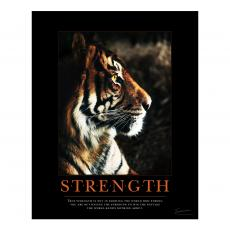 Classic Motivational Posters - Strength Tiger Motivational Poster