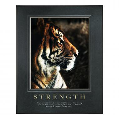 Strength Tiger Motivational Poster