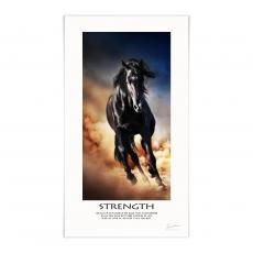 Lifescapes - Strength Mustang Motivational Poster