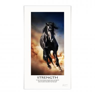 Strength Mustang Motivational Poster