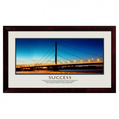 Success Bridge Motivational Poster