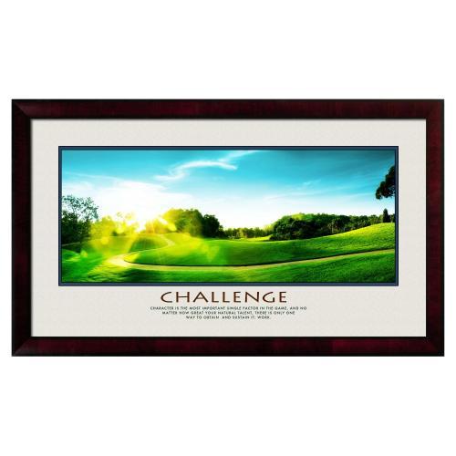 Challenge Golf Motivational Poster