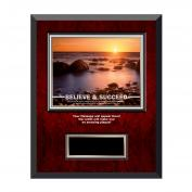 Believe & Succeed Rosewood Individual Award Plaque