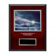 Customer Service Lighthouse Rosewood Individual Award Plaque