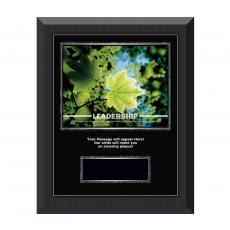 Image Plaques - Leadership Leaf Gunmetal Individual Award Plaque