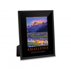 Fun Motivation - Excellence Mountain Framed Desktop Print