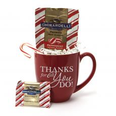 Holiday Themed Gifts - Peppermint Cocoa & Mug Gift Set
