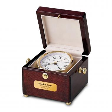 Personalized Rosewood Captain's Clock
