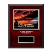 Believe & Succeed Sunset Rosewood Individual Award Plaque