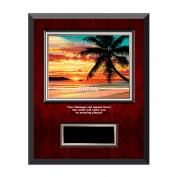 Dream Beach Rosewood Individual Award Plaque
