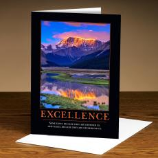Classic Motivational Cards - Excellence Mountain 25-Pack Greeting Cards