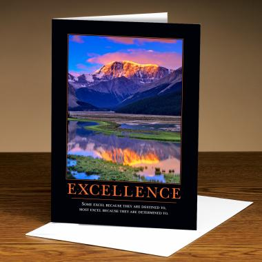 Excellence Mountain 25-Pack Greeting Cards