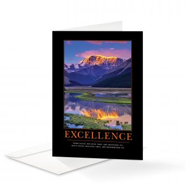 Excellence Mountain Greeting Cards
