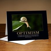 Classic Motivational Cards - Optimism Snail Greeting Cards