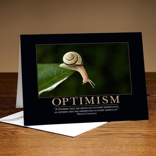 Optimism Snail Greeting Cards