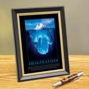 Imagination Iceberg Framed Desktop Print