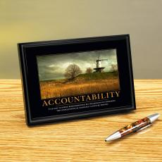 Accountability Windmill Framed Desktop Print