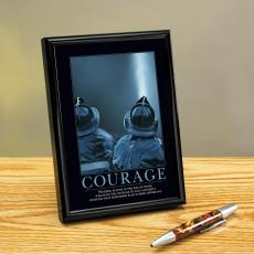 Courage Firefighter Framed Desktop Print