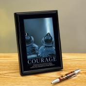 Courage Firefighter Framed Desktop Print Classic Motivational (727807), Classic Motivational Prints