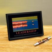 Leadership Flamingo Framed Desktop Print