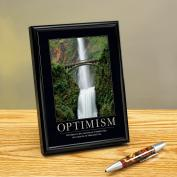 Optimism Waterfall Framed Desktop Print