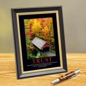Trust Bridge Framed Desktop Print
