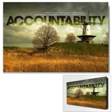 Modern Motivational Art - Accountability Windmill Motivational Art
